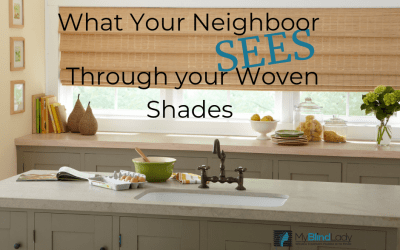 What Your Neighbor Sees through your Woven Window Shades