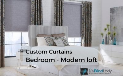 Custom Curtains Complete a Master Bedroom