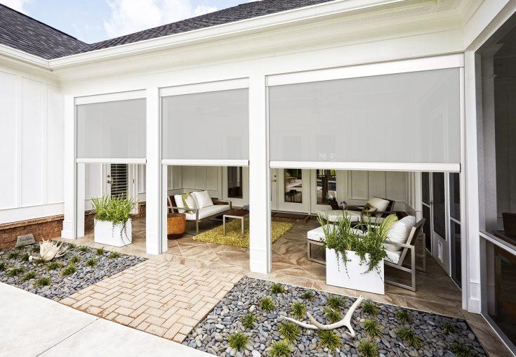 lafayette la patio exterior white shade